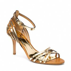Coach Kamea Leather Strappy Sandal - Sz 7B